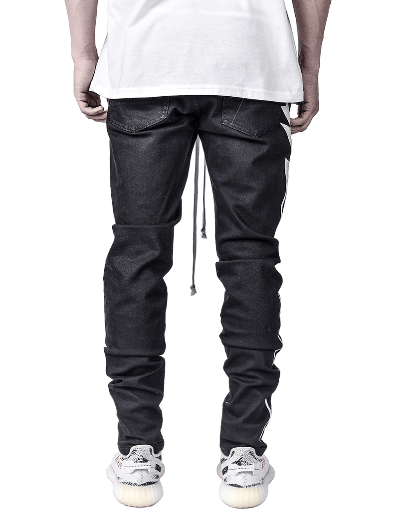 Lightning Bolt Denim - Black