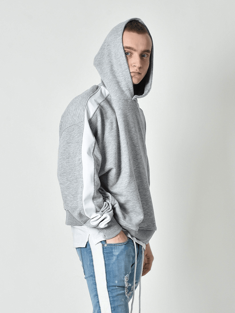Oversized Track Hoodie - Heather Grey