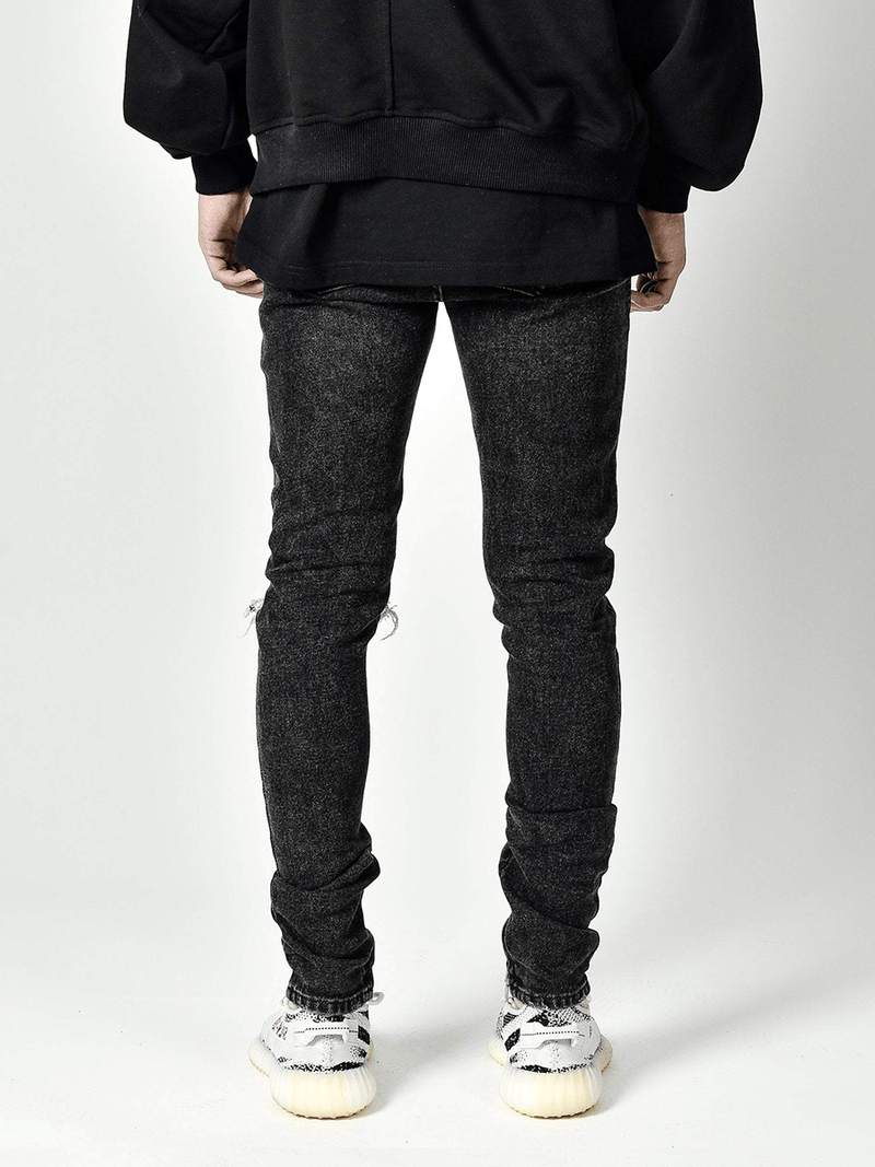 One Knee Blowout Denim - Black