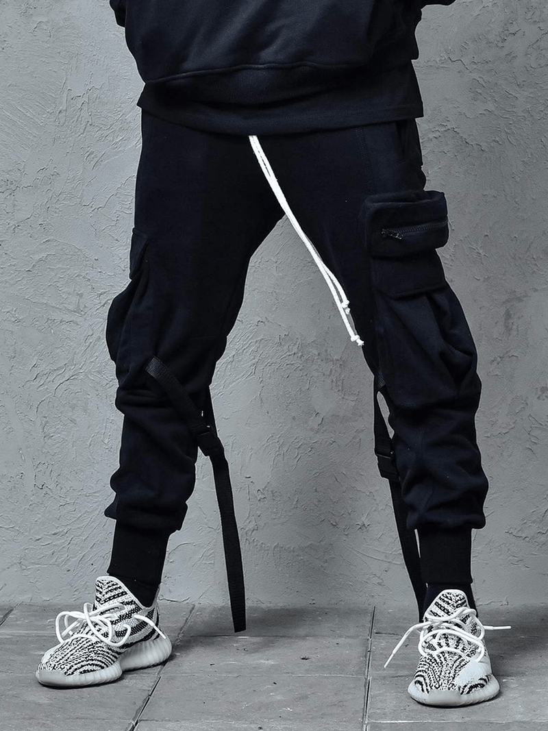 Cargo Sweatpants - Black - Reputation Studios