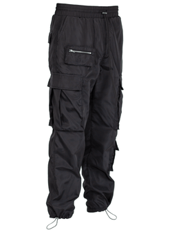Nylon Cargo Pants - Black