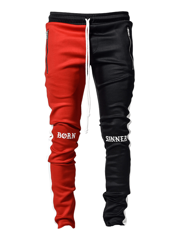 Drawstring Trackpants V3 - Black / Red Born Sinner