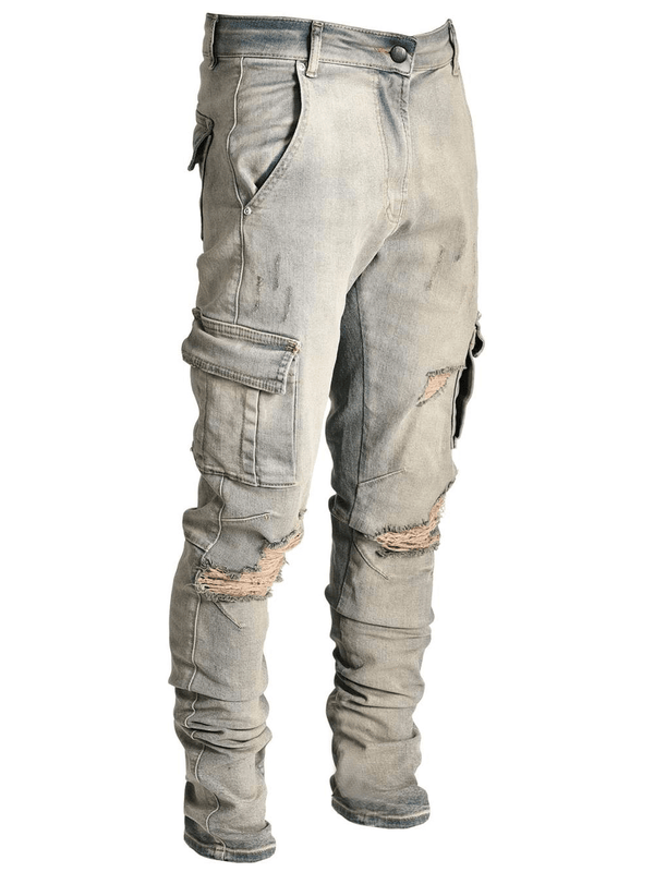 Cargo Denim - Dirty Wash - lakenzie