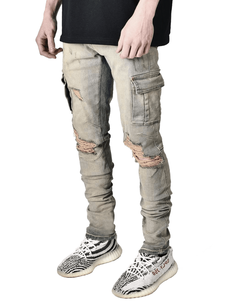 Cargo Denim - Dirty Wash - Reputation Studios