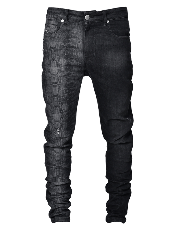 Snake Print Denim - lakenzie