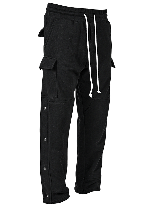 Snap Sweatpants - Black