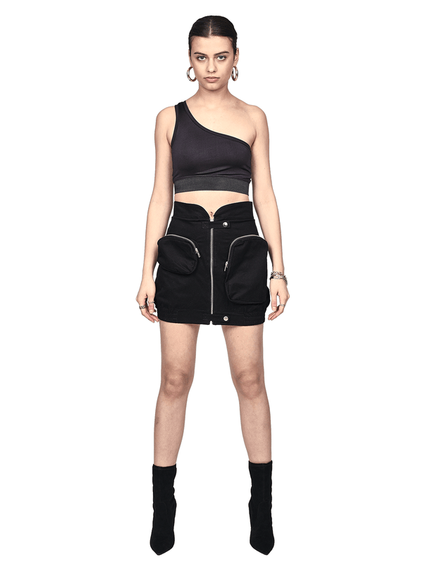 Utility Skirt - Black - lakenzie