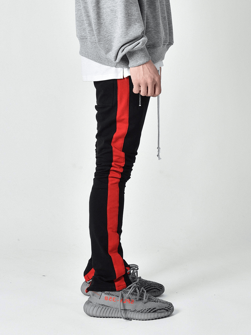 Drawstring Trackpants V2.0 - Black/Red