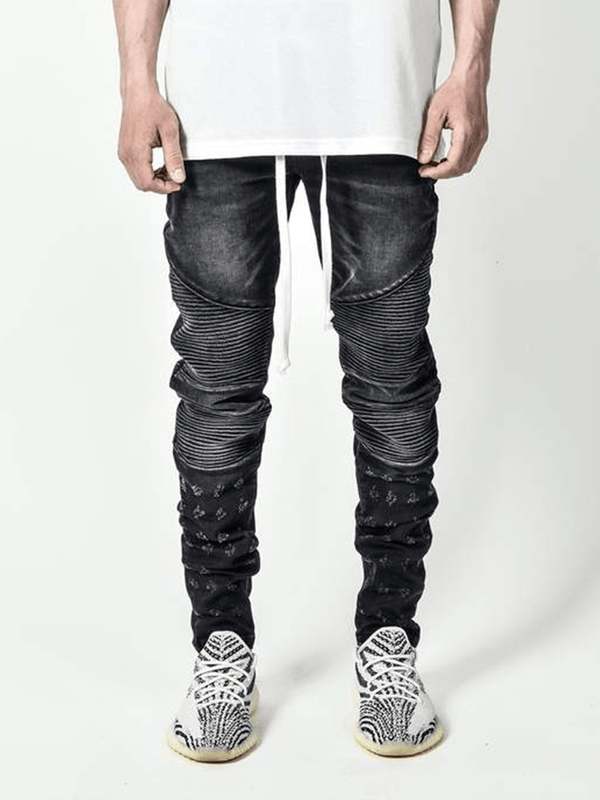 Biker Denim - Black - lakenzie