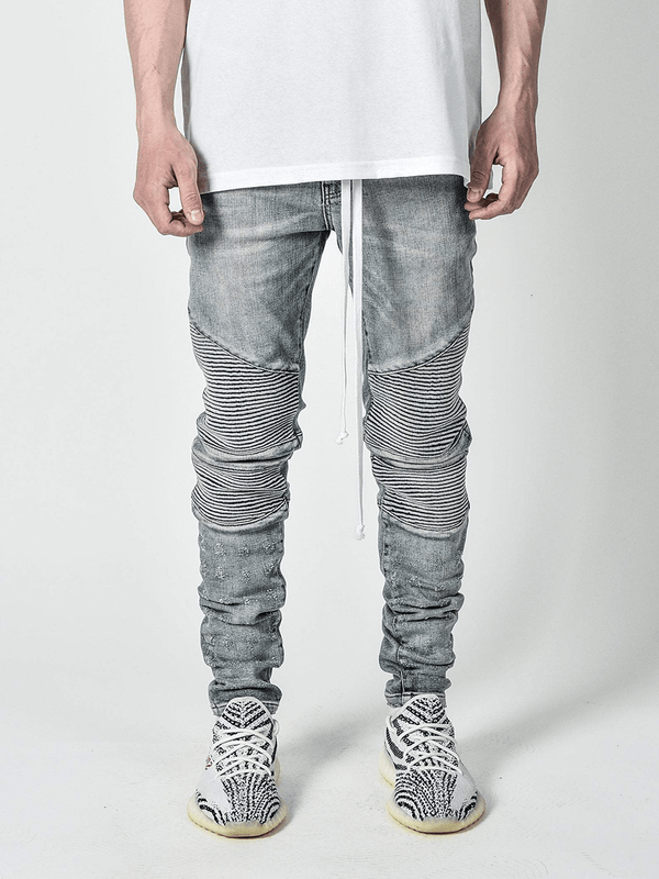 Biker Denim - Light Stone - lakenzie