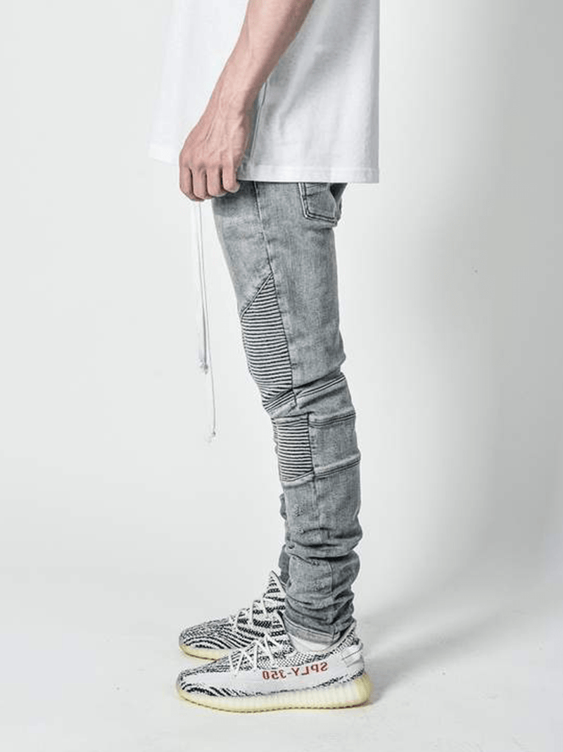 Biker Denim - Light Stone