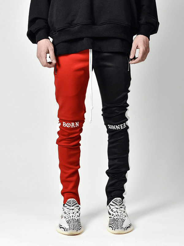 Drawstring Trackpants V3 - Black / Red Born Sinner - lakenzie