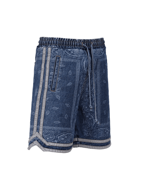 Basketball Denim Shorts - Vintage Blue