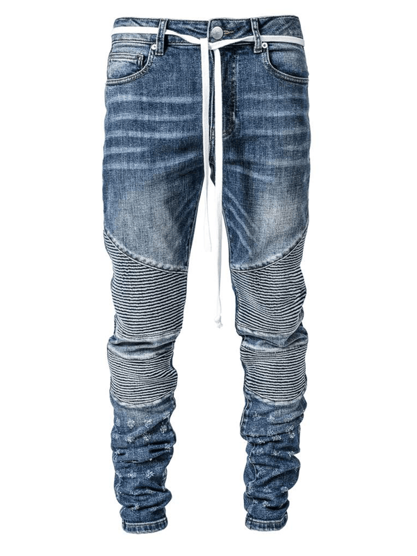 Biker Denim - Mid Blue - lakenzie