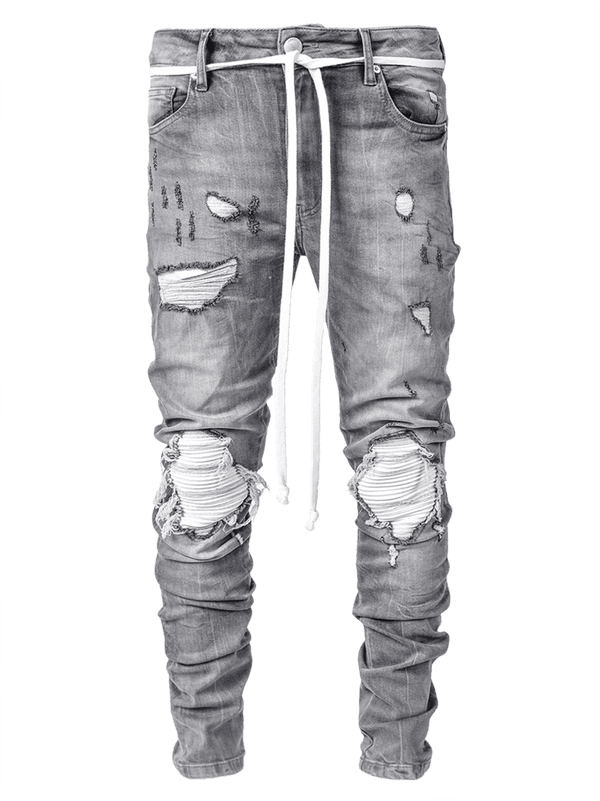 Biker Patch Denim - Stone