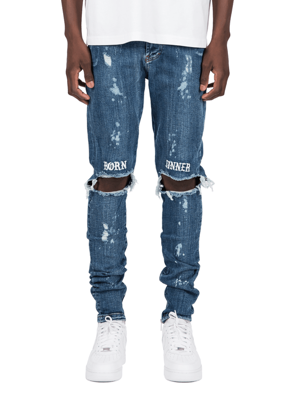 Born Sinner Distressed Denim - Dark Stone - Reputation Studios