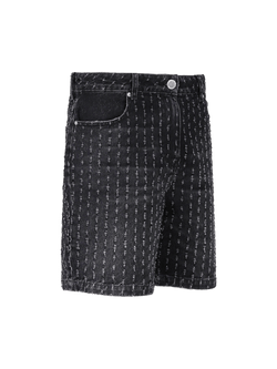 Bullet Hole Shorts - Black