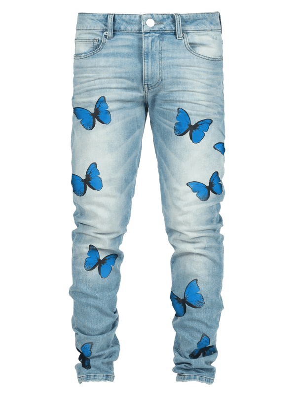 Butterfly Skinny Denim - Light Wash