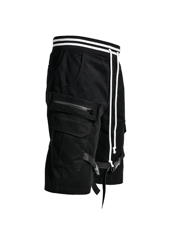 Cargo Shorts - Black - lakenzie