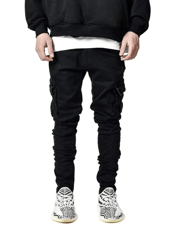 Cargo Denim - Black - Reputation Studios