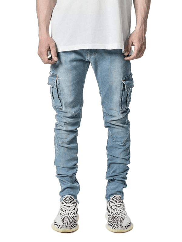 Cargo Denim - Light Stone