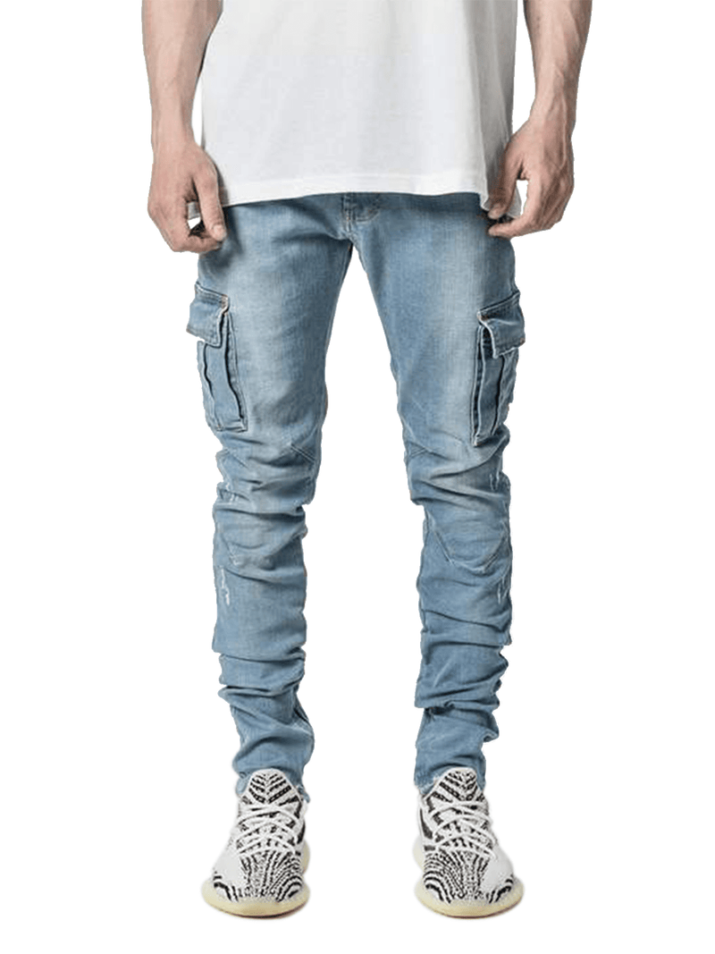Cargo Denim - Light Stone - lakenzie