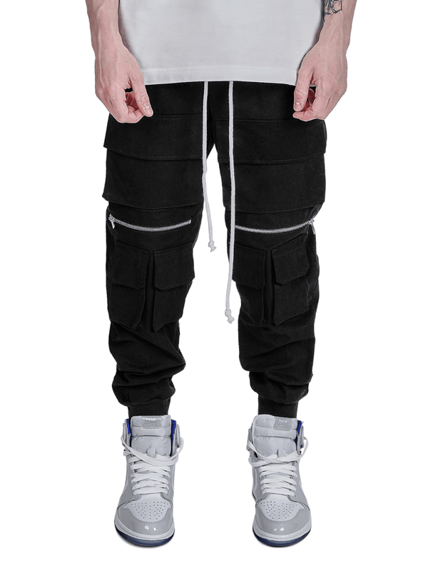 Cargo Knee Zipper Pants