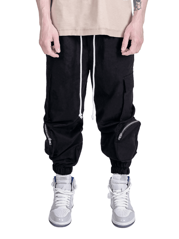 Cargo Pants - Two Tone Black