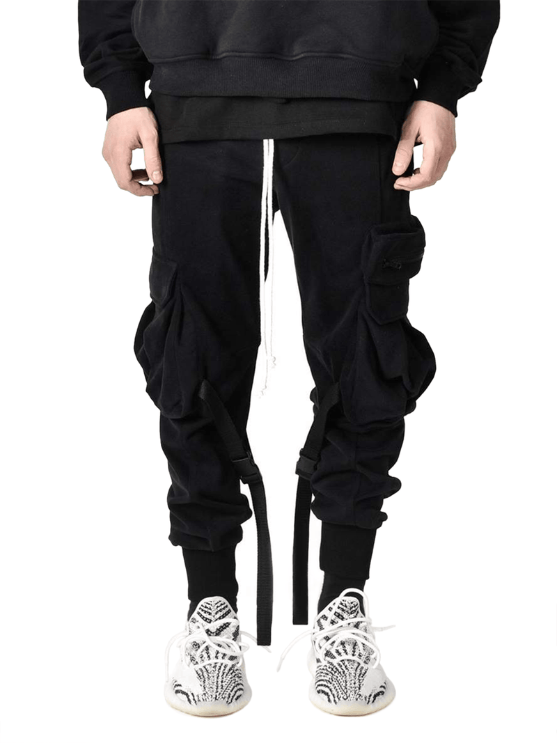 Cargo Sweatpants - Black - lakenzie