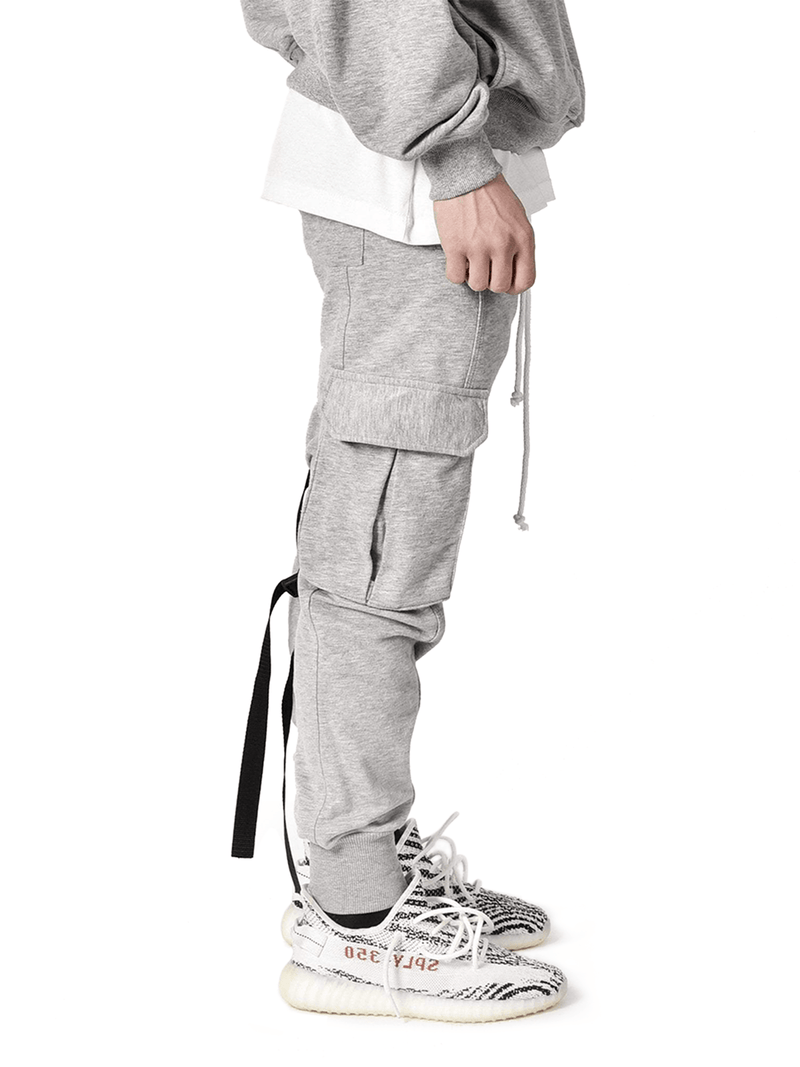 Cargo Sweatpants - Heather Grey - lakenzie