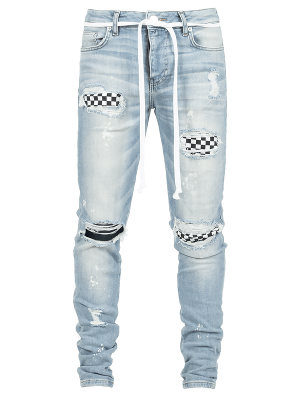 Checkered Denim