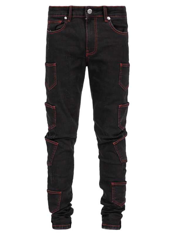 Contrast Stitch Denim