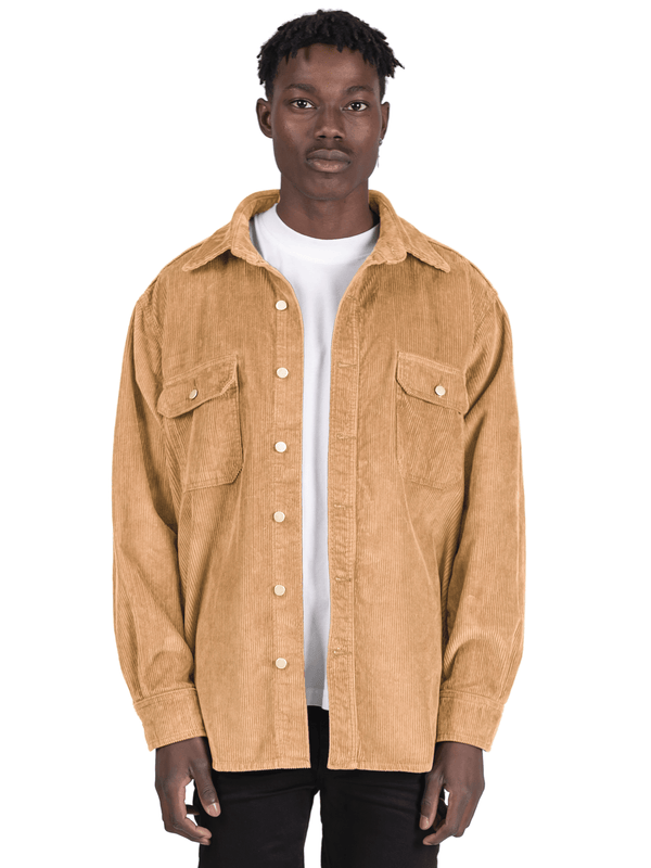 Oversized Cord Shirt - Beige