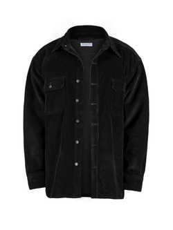 Oversized Cord Shirt - Black