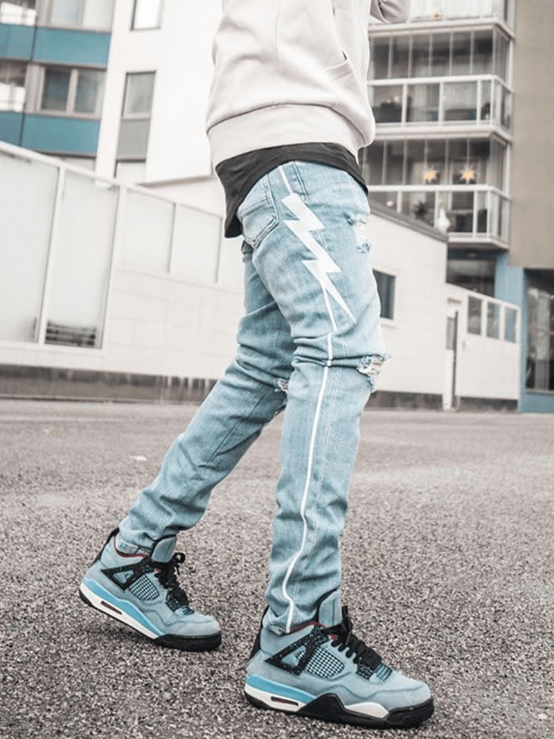 Lightning Bolt Denim - Light Stone - lakenzie