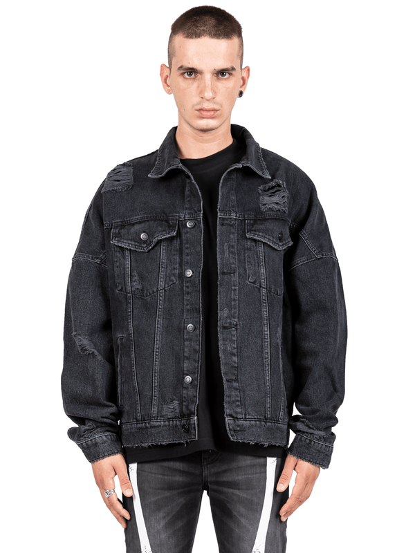 Oversized Denim Jacket - Black