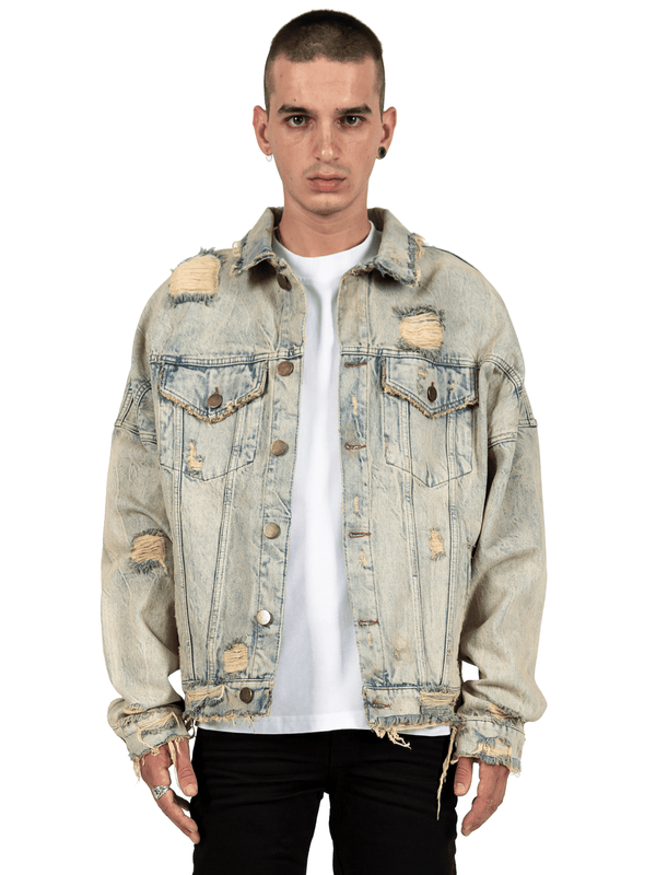 Oversized Denim Jacket - Dirty Wash