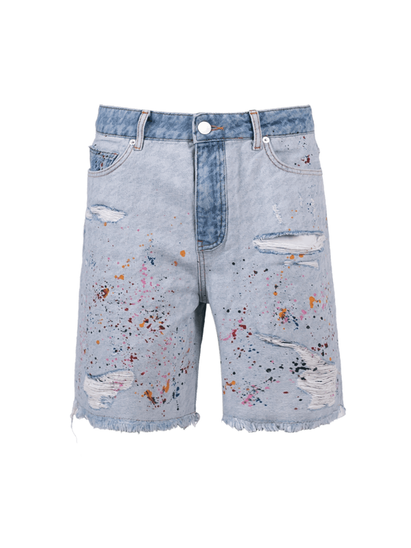 Painter Shorts - Light Wash