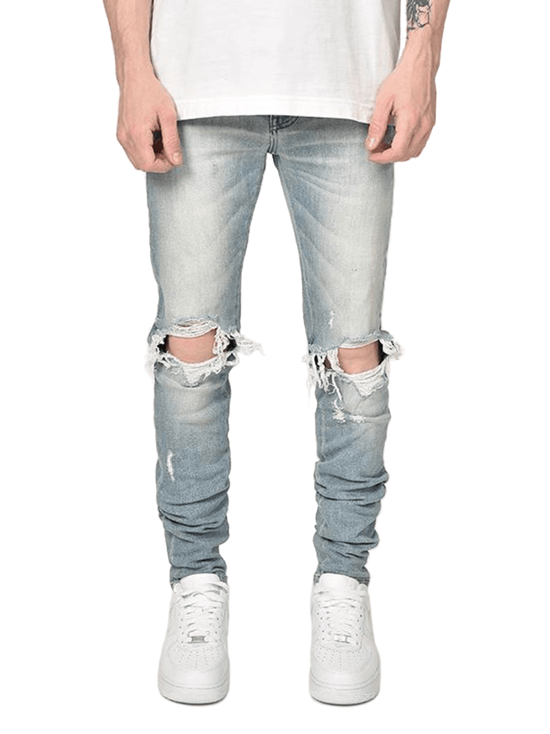 Destroyed Denim - Blue Wash