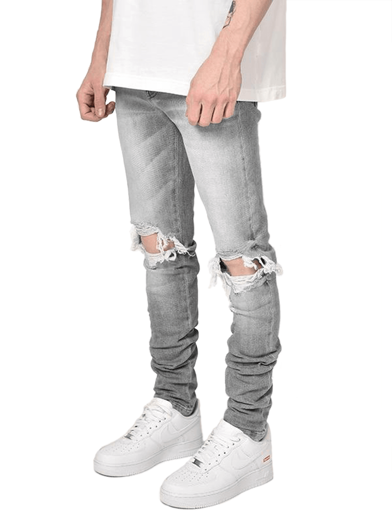 Destroyed Denim - Grey