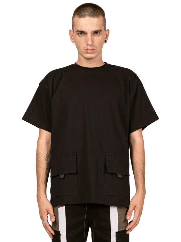 Double Pocket Tee - Black
