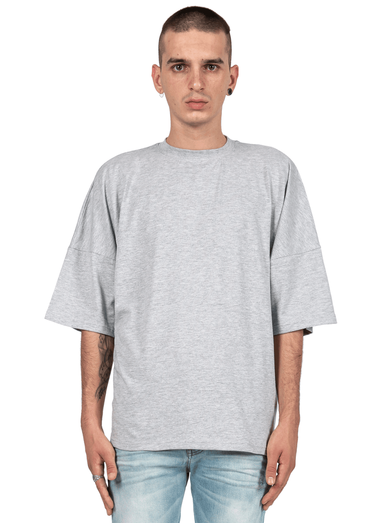 Drop Shoulder Tee - Heather Grey