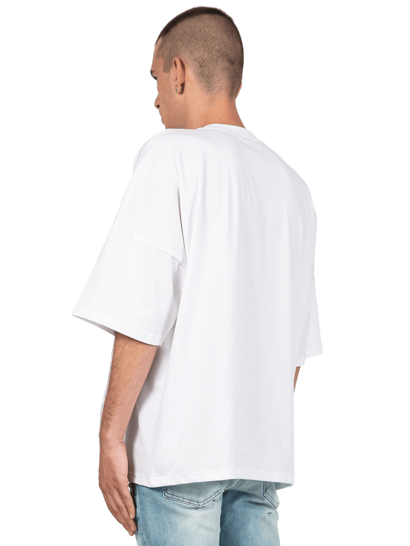 Drop Shoulder Tee - White