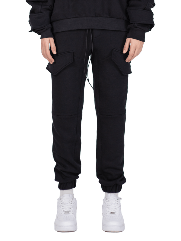 Front Pocket Sweatpants - Black