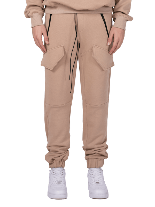 Front Pocket Sweatpants - Sand