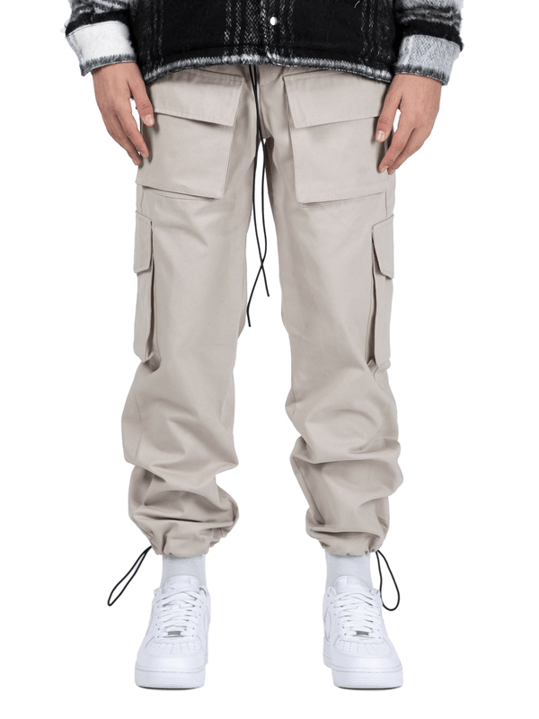 Front Pocket Cargo Pants - Stone