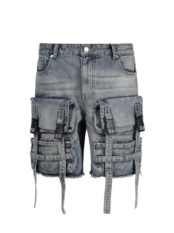 Utility Denim Shorts - Dirty Wash