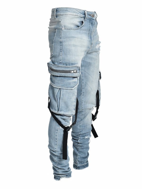 Cargo Denim Straps - Light Stone