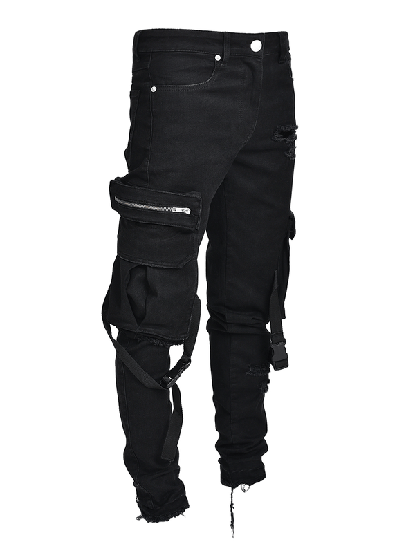 Cargo Denim Straps - Black