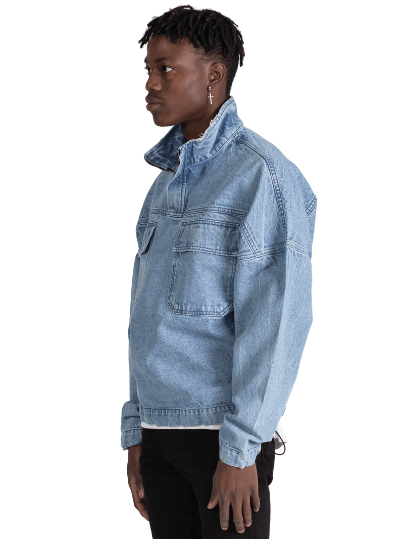 Denim Anorak - Light Wash